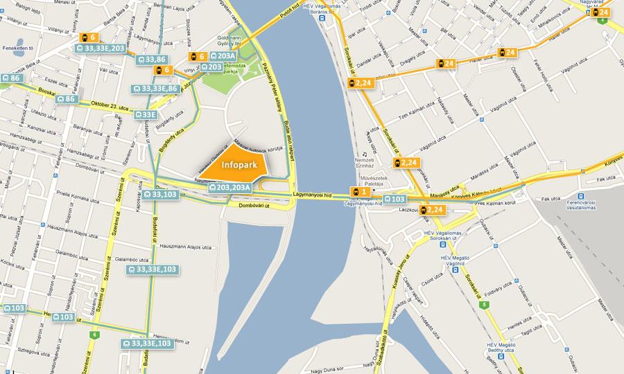 budapest térkép kopaszi gát Infopark | Megközelíthetőség budapest térkép kopaszi gát
